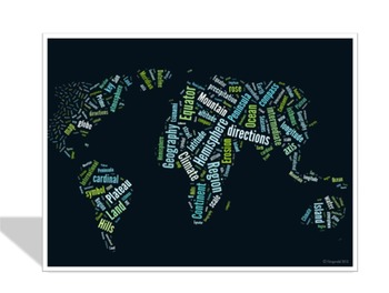 Geography Vocabulary image for Classroom Decoration Poster