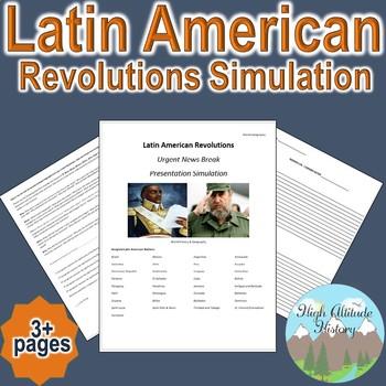 "Latin American Revolution ""Breaking News"" Simulation (Geog"