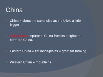 Geography of Ancient China PowerPoint