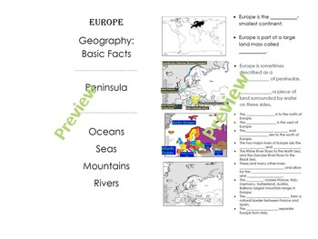 Geography of Europe:  Introduction