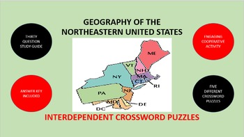 Geography of the Northeastern United States: Crossword Puz