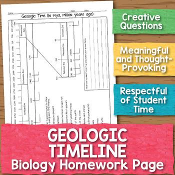 Geologic Time Biology Homework Worksheet