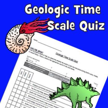 Geologic Time Scale Quiz or Web Scavenger Hunt