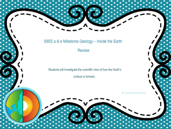 Geology - Inside the Earth - Milestone Review