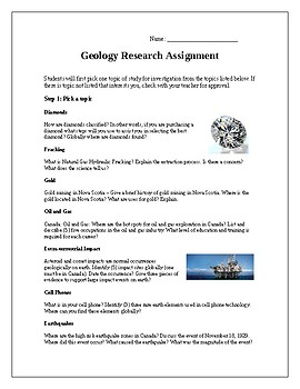 Geology Research Assignment