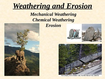Geology: WEATHERING and EROSION PPT (with AMAZING alternat
