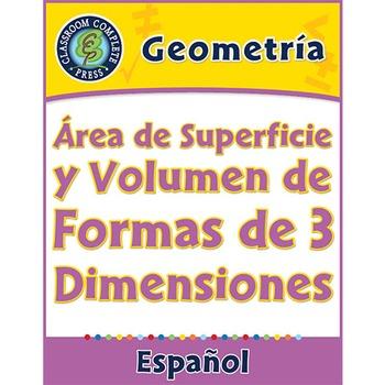 Geometría: Área de Superficie y Volumen de Formas de 3 Dim