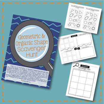 Geometric And Organic Scavenger Hunt Packet