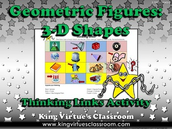 Geometric Figures: 3-D Shapes Thinking Links Activity #2 -