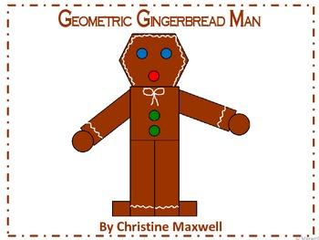 Geometric Gingerbread Man 2D Shapes