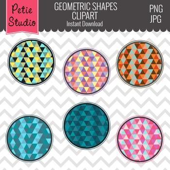 Geometric Pattern Digital Circle Frames, Geometric Shapes