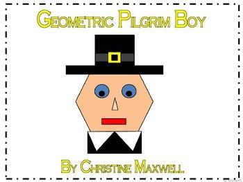 Thanksgiving Geometric Pilgrim Boy 2D Shapes