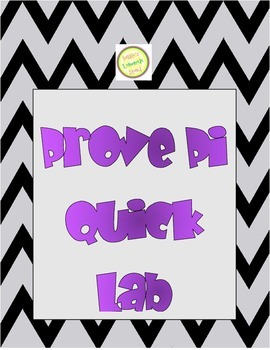 Geometric Proof of Pi - Quick Lab Activity - Perfect for P