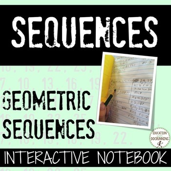 Geometric Sequence Interactive Notebook Foldable