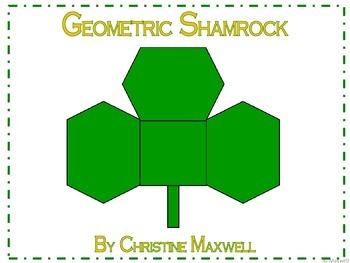 Geometric Shamrock for St. Patrick's Day 2D Shapes