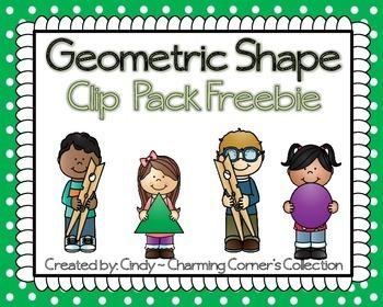 Geometric Shape Clip Freebie Pack