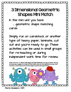 Geometric Shape Mini Match