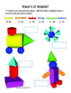 Geometric Shapes 3-D Solid Figures