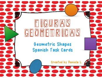 Math Task Cards Geometric Shapes / Figuras geometricas Spa
