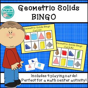 Geometric Solids Bingo