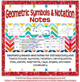 Geometric Symbols and Notation Guided Notes for Geometry