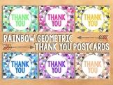 Geometric Thank You Postcards