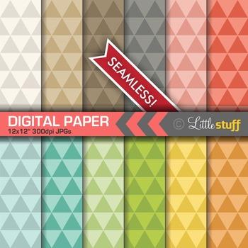 Geometric Triangles Digital Papers, Modern Triangles Digit