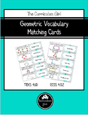 Geometric Vocabulary Matching Cards FREEBIE (4.6D, 4.G.A.2)