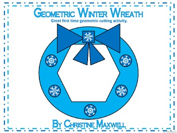 Geometric Winter Wreath 2D Shapes