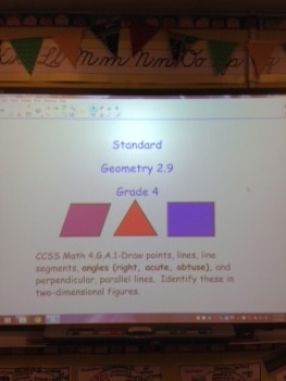 Geometry 2.9 Angles  4th Grade Smartboard Lesson