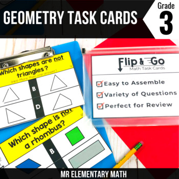 Geometry - 3rd Grade Math Flip and Go Cards