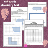 Geometry 6th Grade Assessment - CCSS