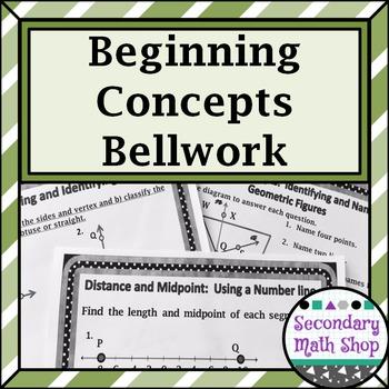 Unit One: Beginning Concepts Bellwork - Bellringers - Stat