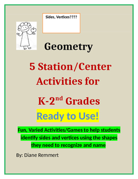 Geometry Activities/Stations for K - 2nd Grades