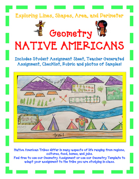 Geometry Activity NATIVE AMERICAN -Explore Lines, Shapes,