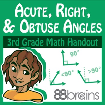 Geometry: Acute, Right, and Obtuse Angles pgs.17-19 (CCSS)