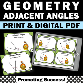 Geometry Adjacent Angles Activities 7th Grade Common Core