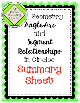 Geometry: Angle-Arc & Segment Relationships in Circles For