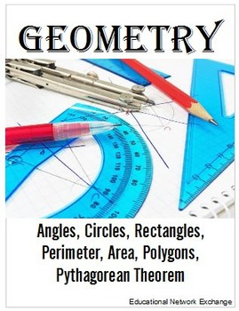 Geometry: Angles, Circles, Perimeter, Area, Polygons, Pyth