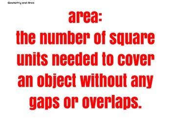 Geometry & Area Math Vocabulary Posters