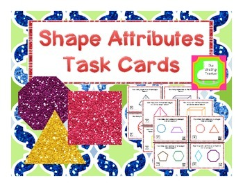 Geometry - Attributes of 2D and 3D Shapes (sides, edges, v