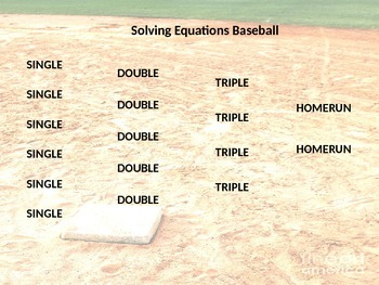 Geometry Baseball Review Game- Special Right Triangles