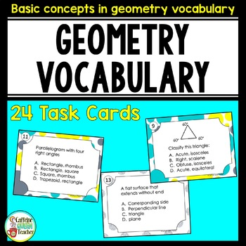 Geometry Basic Vocabulary Terms