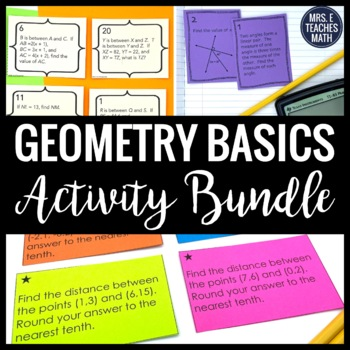 Geometry Basics Activity Bundle