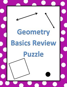 Geometry Basics Review Puzzle