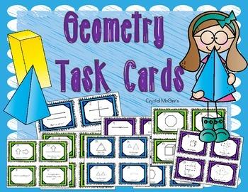 Geometry Basics Task Cards (Shapes, Angles, Lines, Triangl