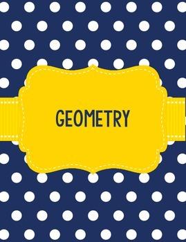 Geometry Binder Georgia GSE Teacher Binder Navy and Yellow