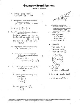 Geometry Board Session 12,SAT,ACT,medians,inscribed square
