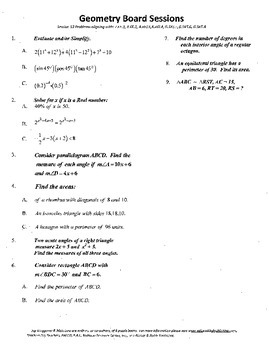 Geometry Board Session 13,SAT,ACT,areas,parallelogram angl