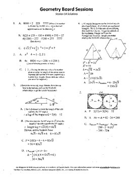 Geometry Board Session 14,SAT,ACT,hexagon,tangent circles,